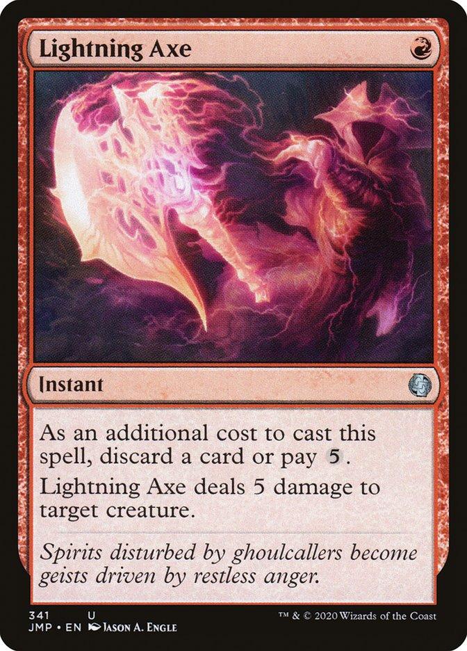 Carta Machado Relampejante/Lightning Axe de Magic the Gathering