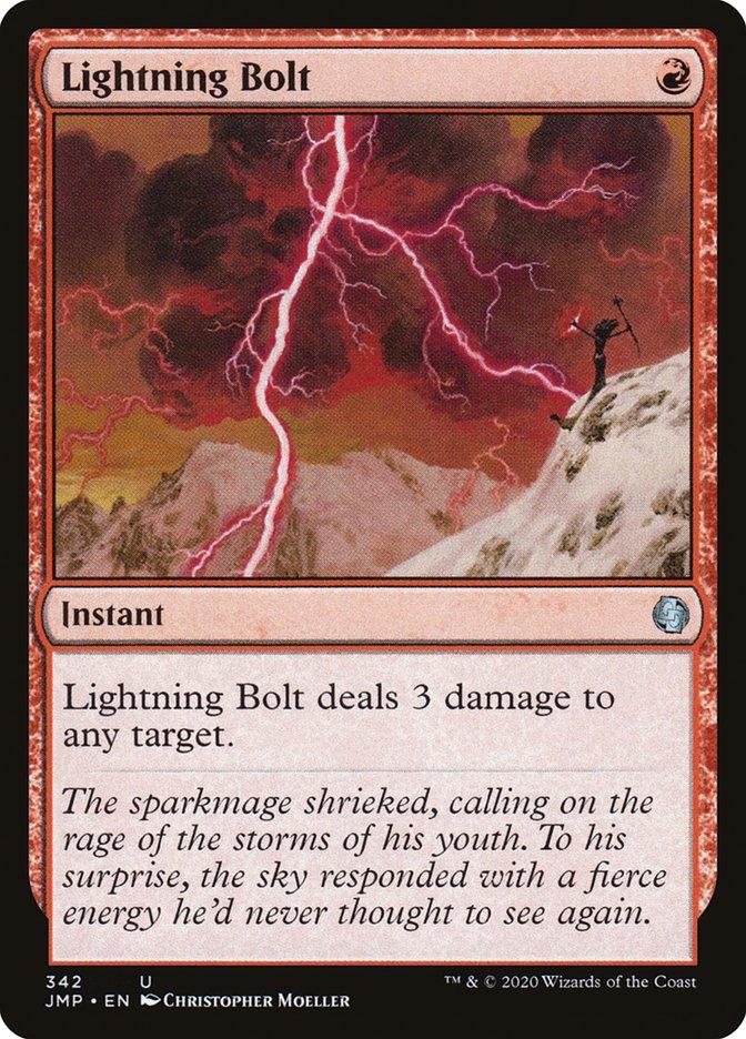 Carta Raio/Lightning Bolt de Magic the Gathering