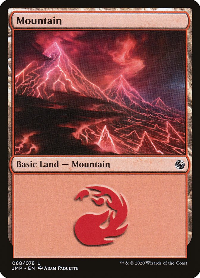 Carta Montanha/Mountain de Magic the Gathering