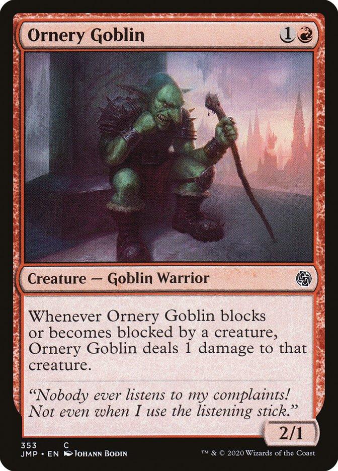 Carta Goblin Turrão/Ornery Goblin de Magic the Gathering
