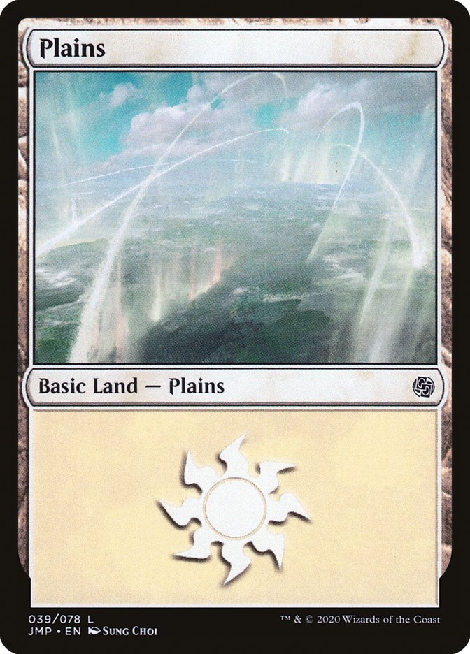 Carta Planície/Plains de Magic the Gathering