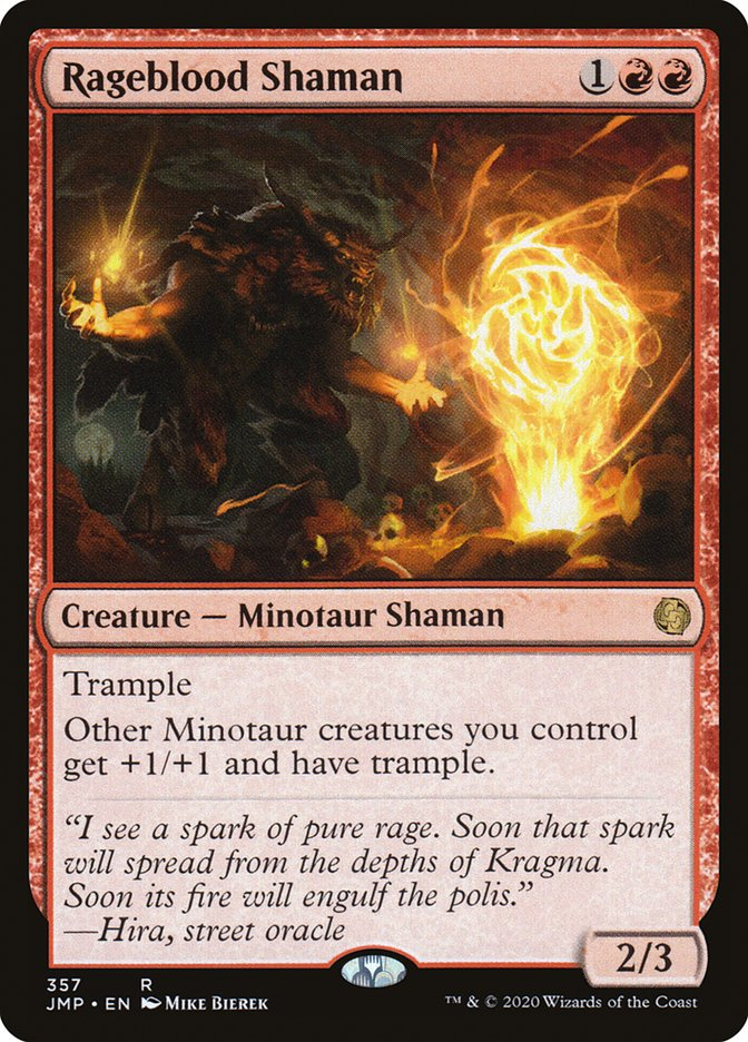 Carta Xamã do Sangue Irado/Rageblood Shaman de Magic the Gathering