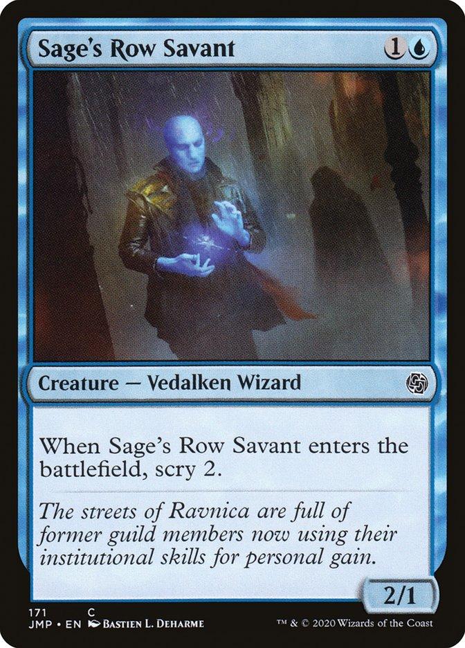Carta Erudito da Travessa da Sabedoria/Sage's Row Savant de Magic the Gathering