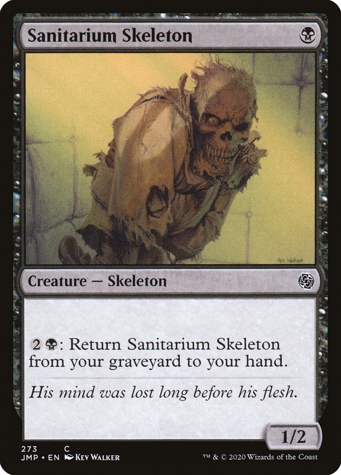 Carta Esqueleto do Sanatório/Sanitarium Skeleton de Magic the Gathering