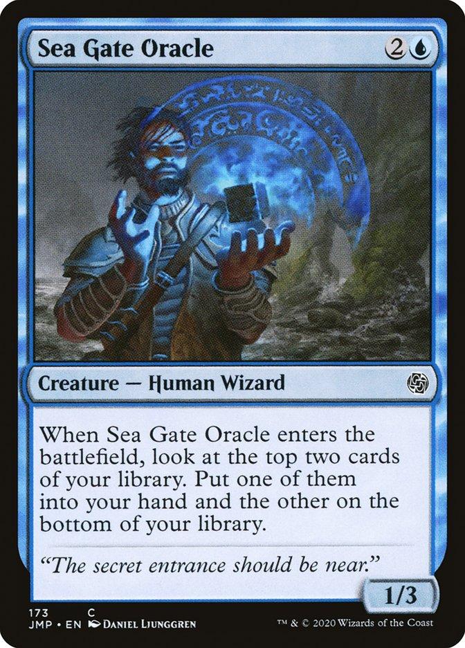 Carta Oráculo do Portão Marinho/Sea Gate Oracle de Magic the Gathering