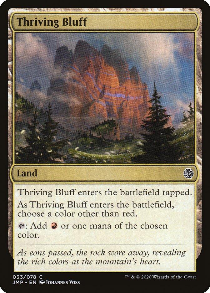 Carta Thriving Bluff/Thriving Bluff de Magic the Gathering