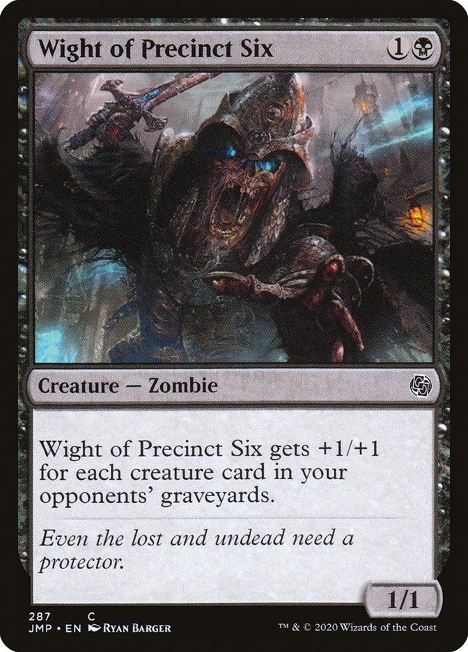 Carta Monstro da Jurisdição Seis/Wight of Precinct Six de Magic the Gathering