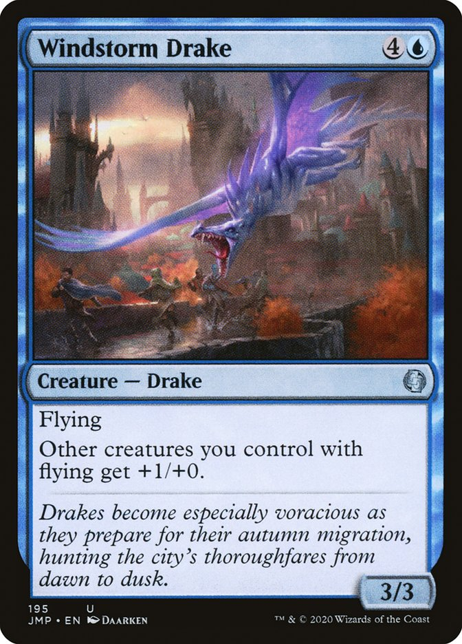 Carta Dragonete do Vendaval/Windstorm Drake de Magic the Gathering