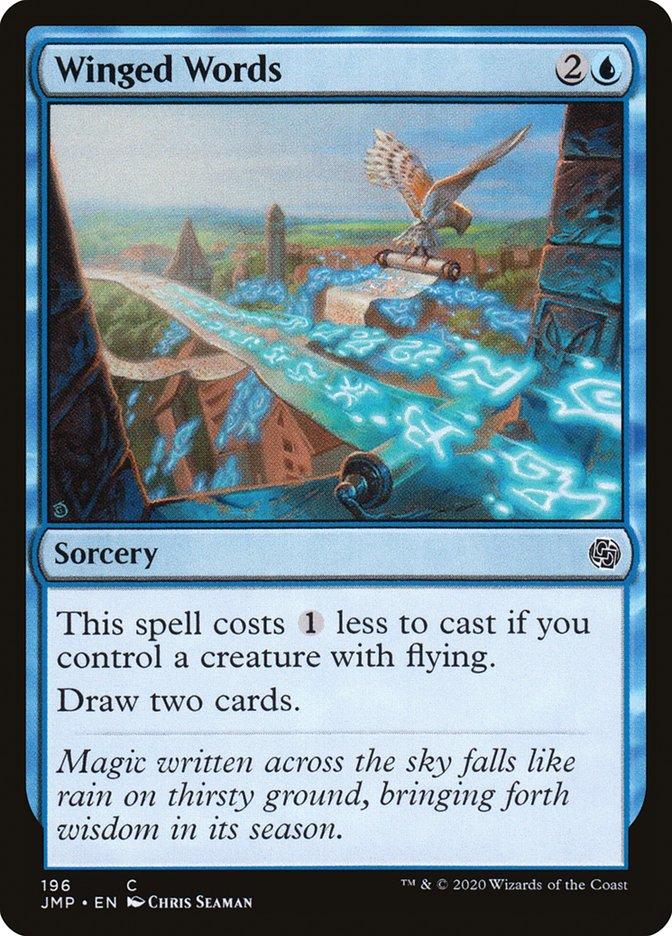 Carta Palavras Aladas/Winged Words de Magic the Gathering