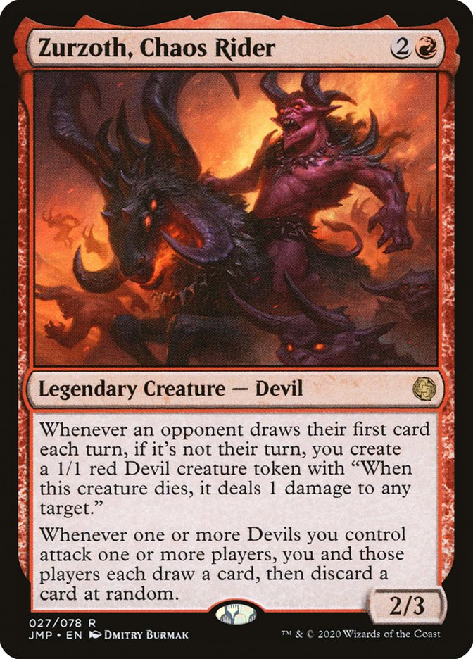 Carta Zurzoth, Chaos Rider/Zurzoth, Chaos Rider de Magic the Gathering