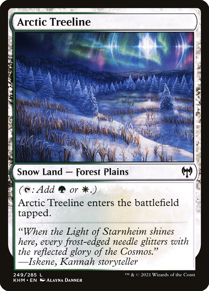 Carta /Arctic Treeline de Magic the Gathering