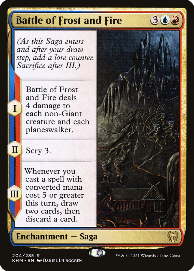 Carta /Battle of Frost and Fire de Magic the Gathering