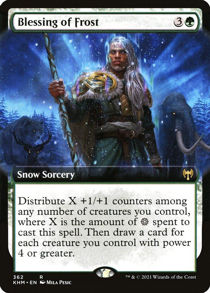 Carta /Blessing of Frost de Magic the Gathering