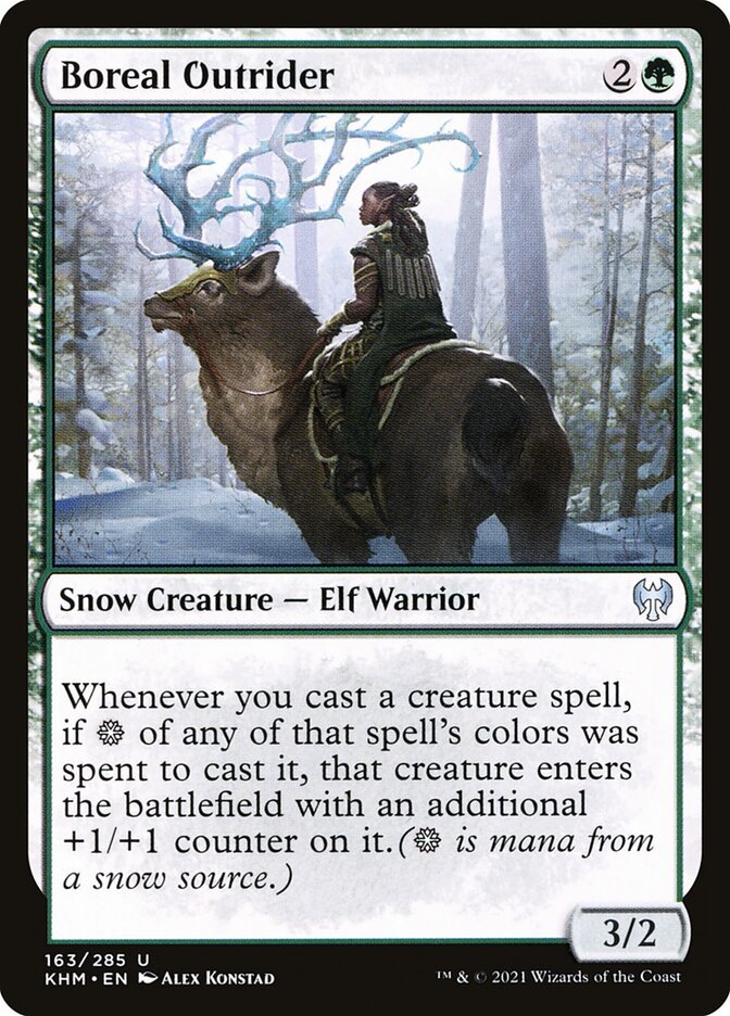 Carta /Boreal Outrider de Magic the Gathering