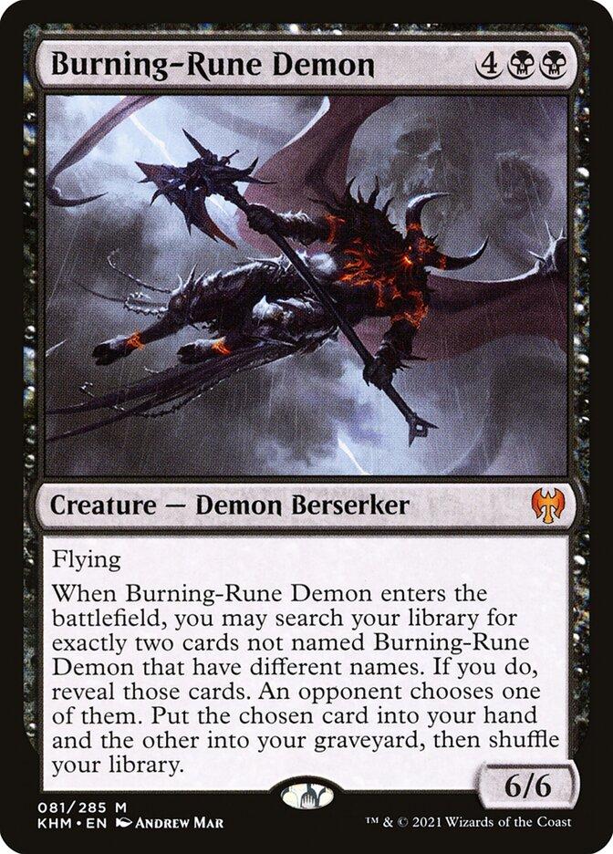 Carta /Burning-Rune Demon de Magic the Gathering