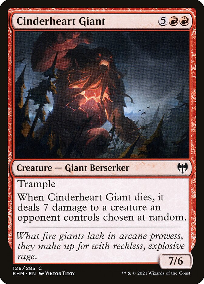 Carta /Cinderheart Giant de Magic the Gathering