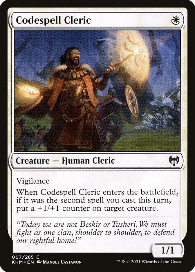 Carta /Codespell Cleric de Magic the Gathering