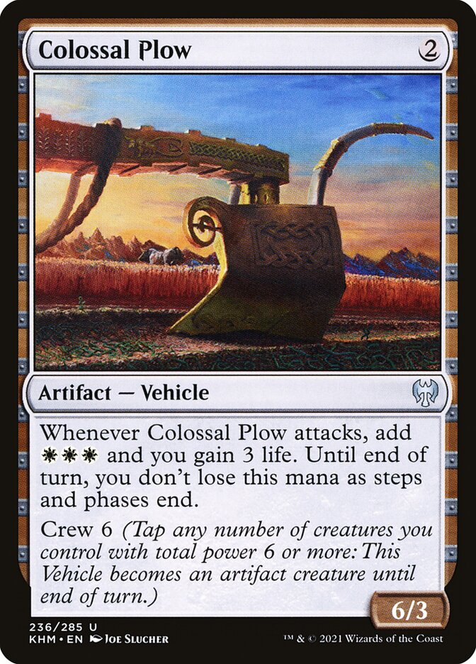Carta /Colossal Plow de Magic the Gathering