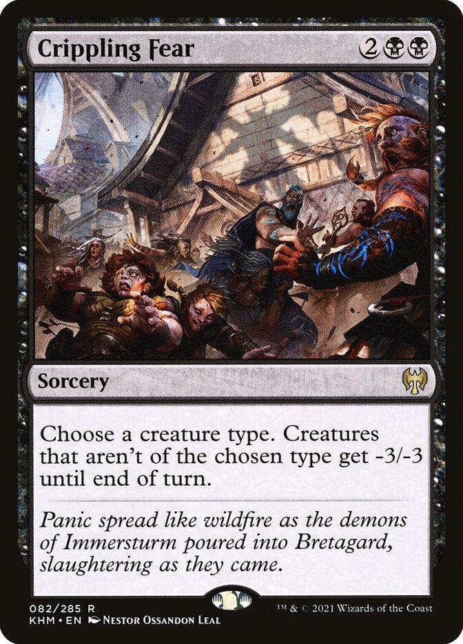 Carta /Crippling Fear de Magic the Gathering