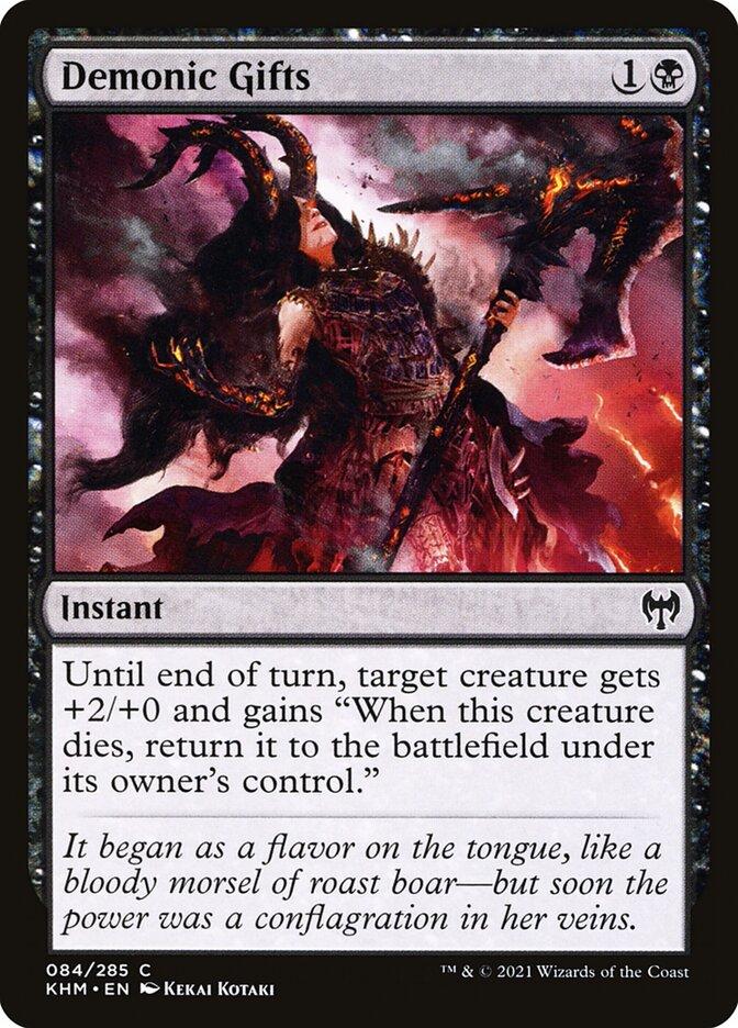 Carta /Demonic Gifts de Magic the Gathering