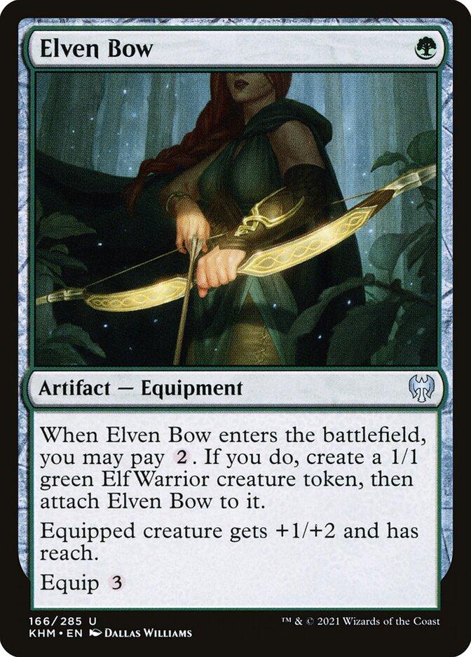 Carta /Elven Bow de Magic the Gathering