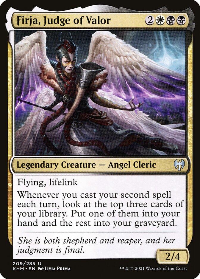 Carta /Firja, Judge of Valor de Magic the Gathering