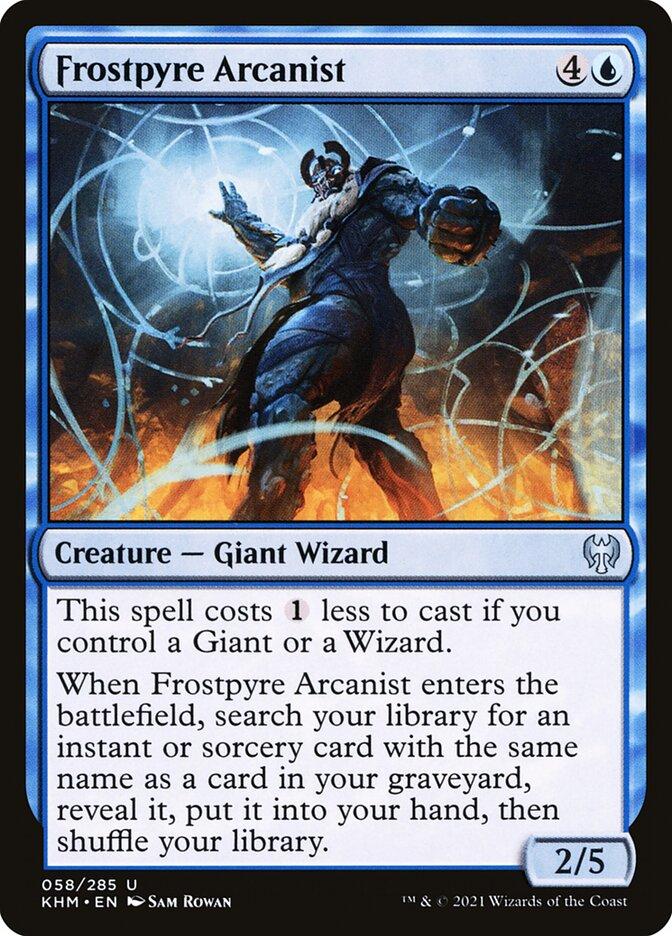 Carta /Frostpyre Arcanist de Magic the Gathering