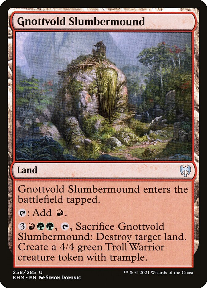 Carta /Gnottvold Slumbermound de Magic the Gathering