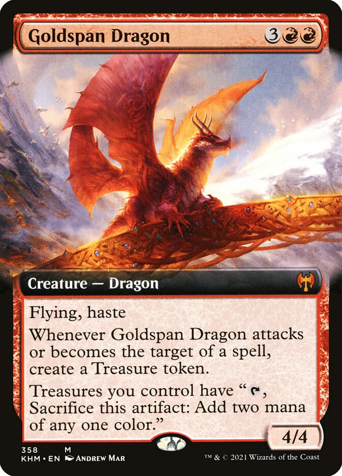 Carta /Goldspan Dragon de Magic the Gathering