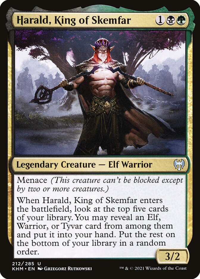 Carta /Harald, King of Skemfar de Magic the Gathering