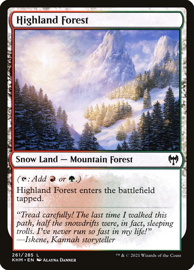Carta /Highland Forest de Magic the Gathering
