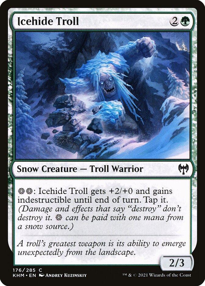 Carta /Icehide Troll de Magic the Gathering