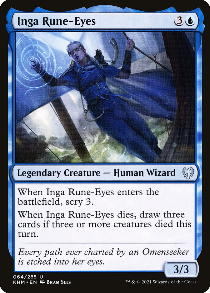 Carta /Inga Rune-Eyes de Magic the Gathering
