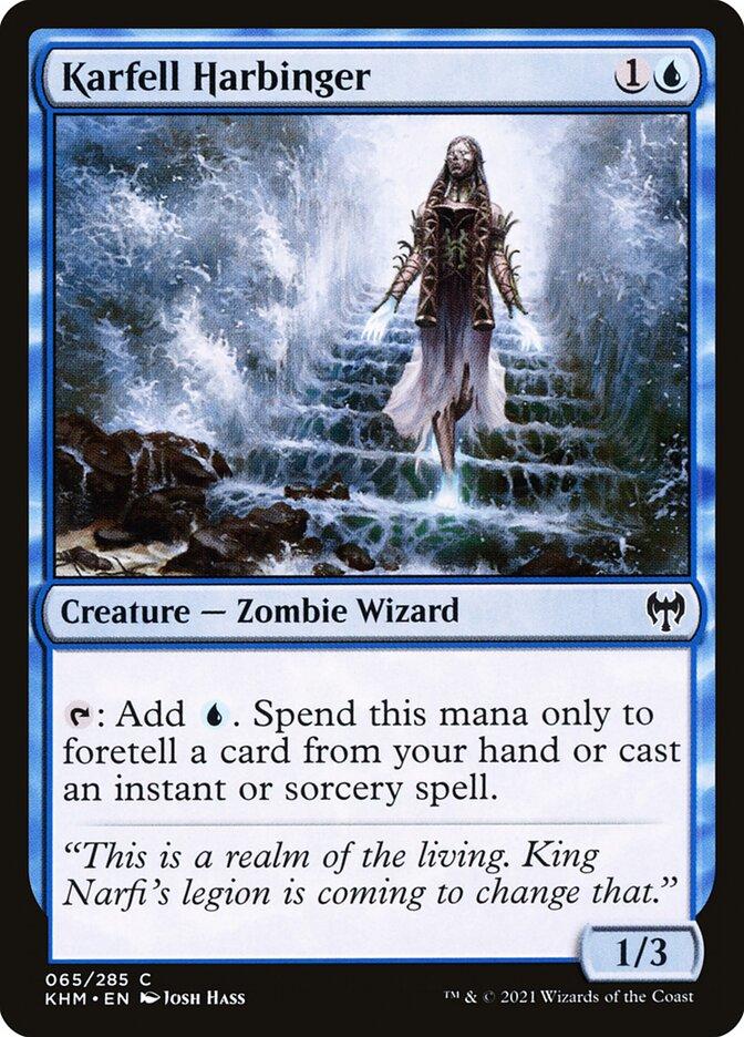 Carta /Karfell Harbinger de Magic the Gathering