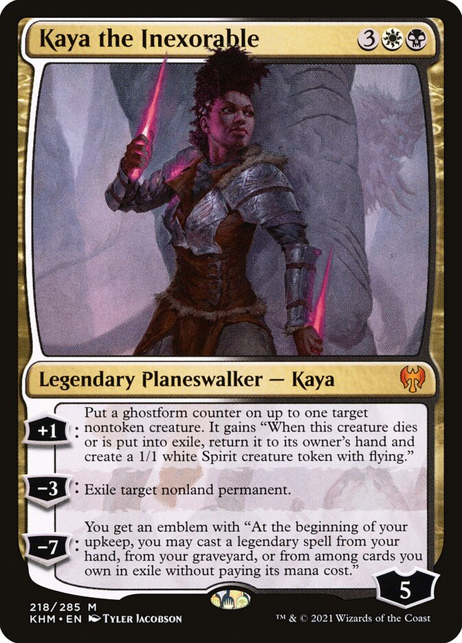 Carta /Kaya the Inexorable de Magic the Gathering
