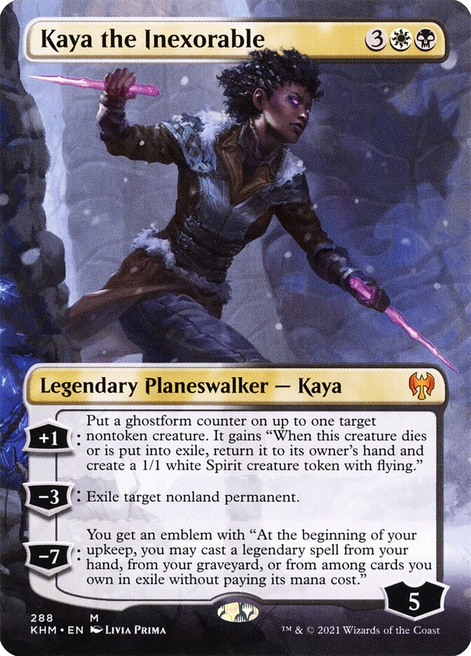 Carta /Kaya the Inexorable de Magic the Gathering
