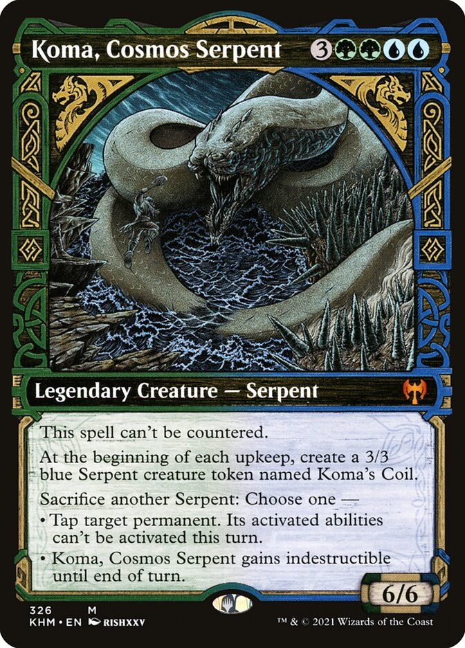 Carta /Koma, Cosmos Serpent de Magic the Gathering