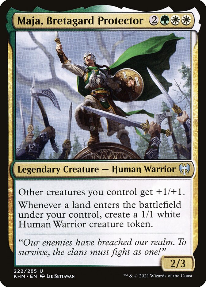 Carta /Maja, Bretagard Protector de Magic the Gathering