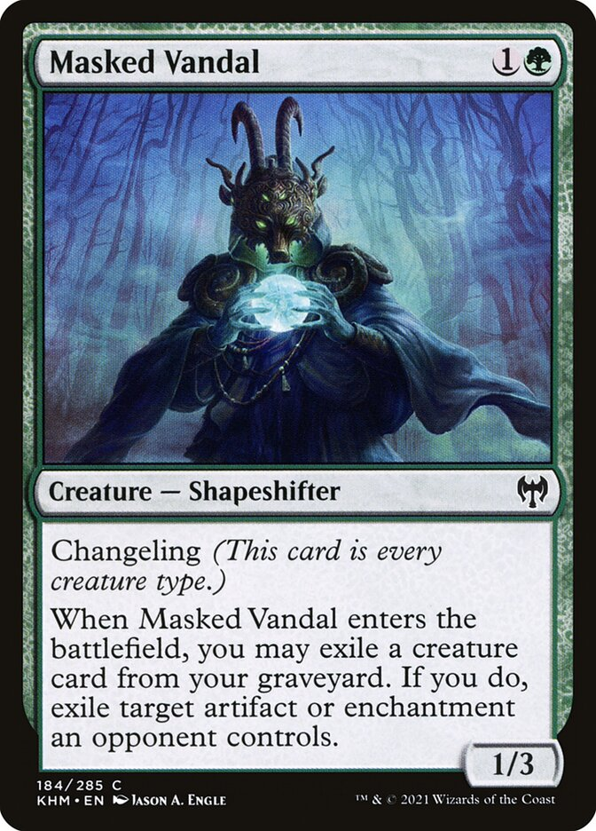 Carta /Masked Vandal de Magic the Gathering