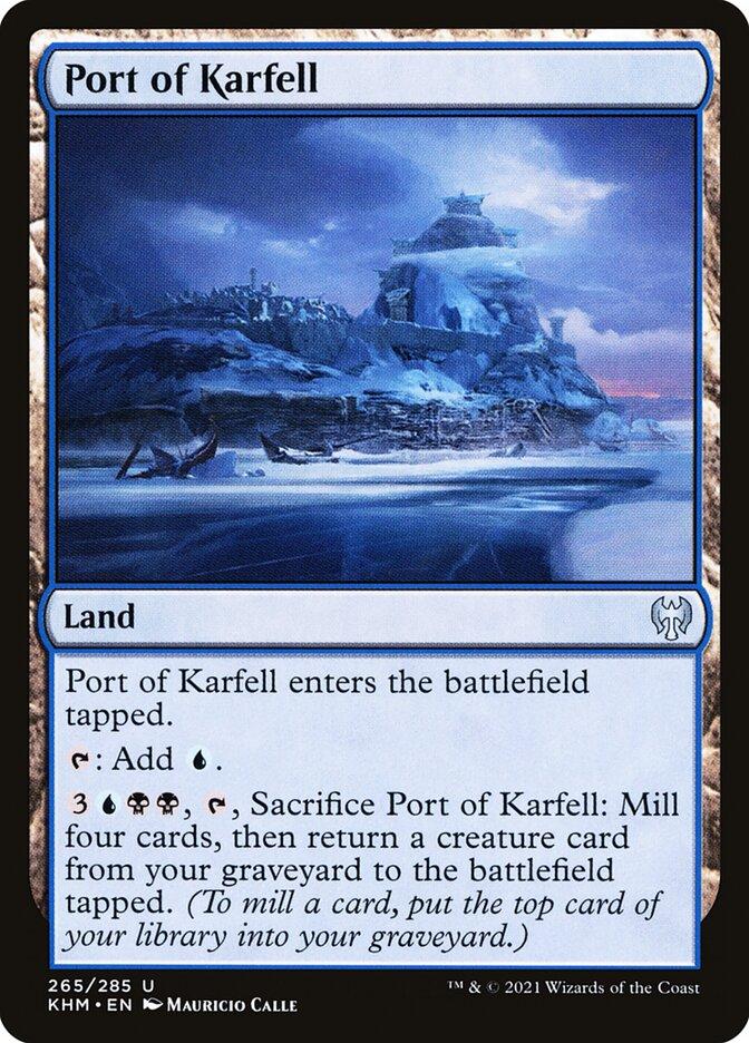 Carta /Port of Karfell de Magic the Gathering