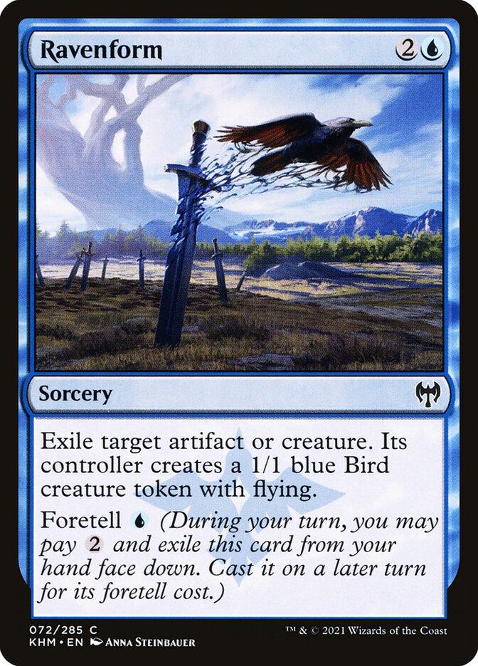 Carta /Ravenform de Magic the Gathering