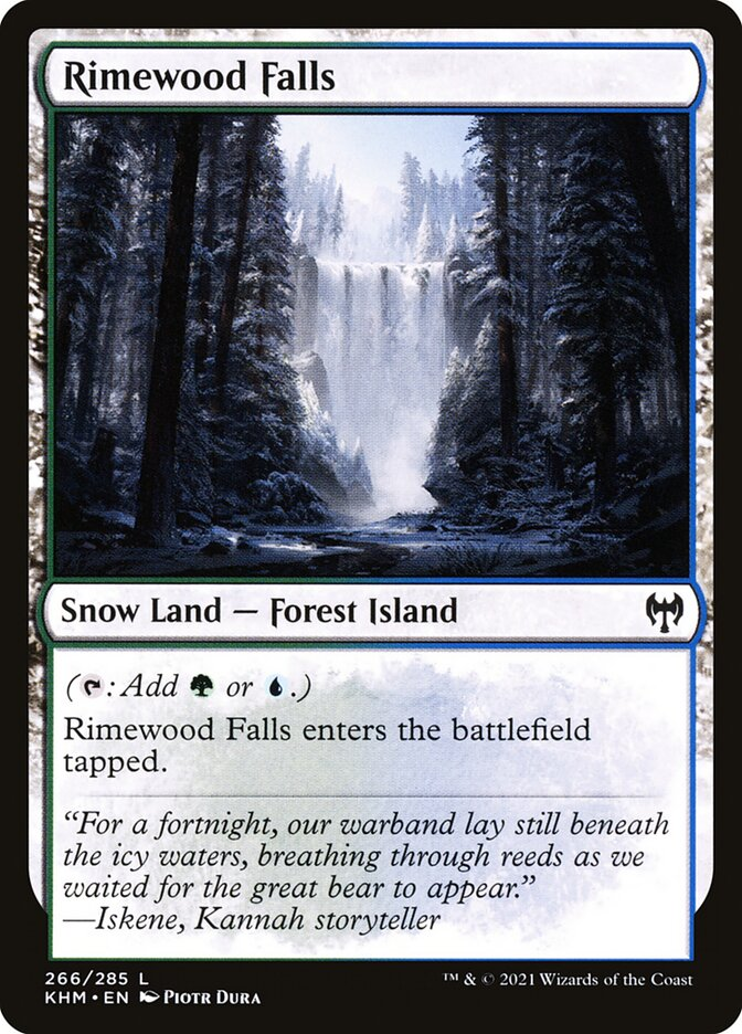 Carta /Rimewood Falls de Magic the Gathering