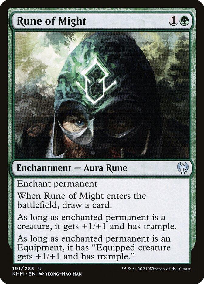 Carta /Rune of Might de Magic the Gathering