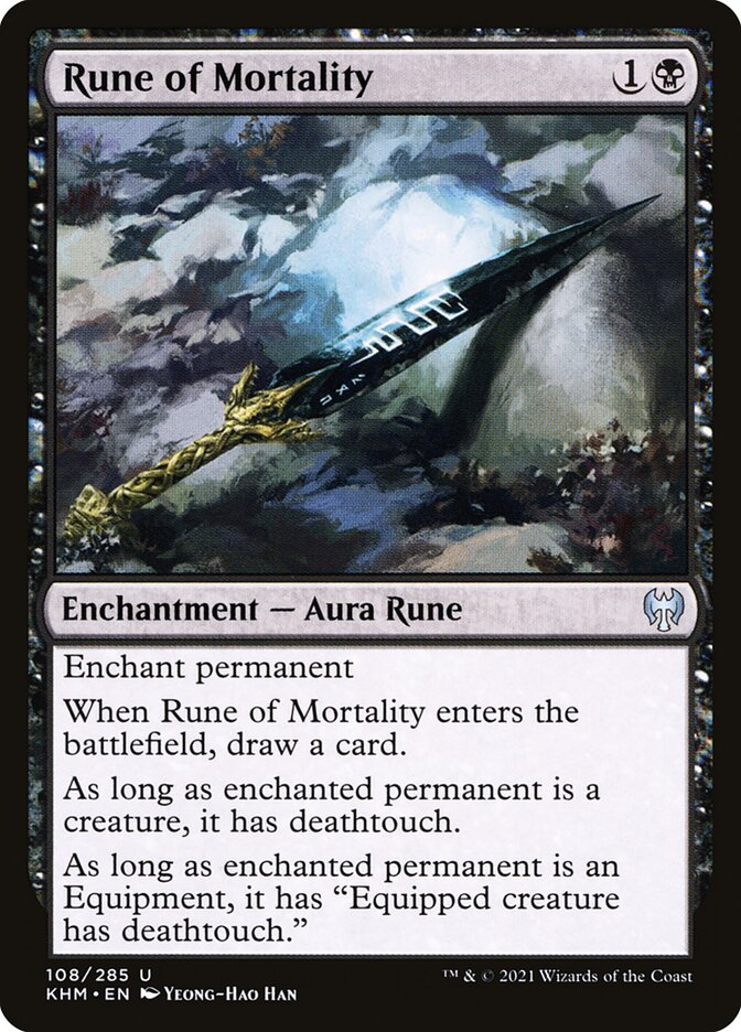 Carta /Rune of Mortality de Magic the Gathering