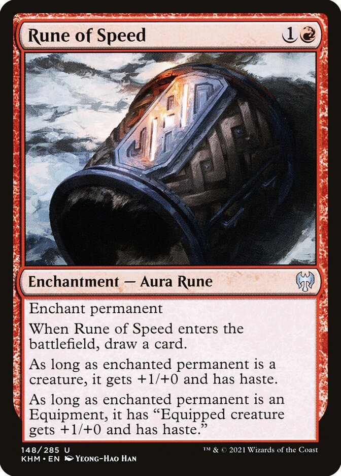 Carta /Rune of Speed de Magic the Gathering