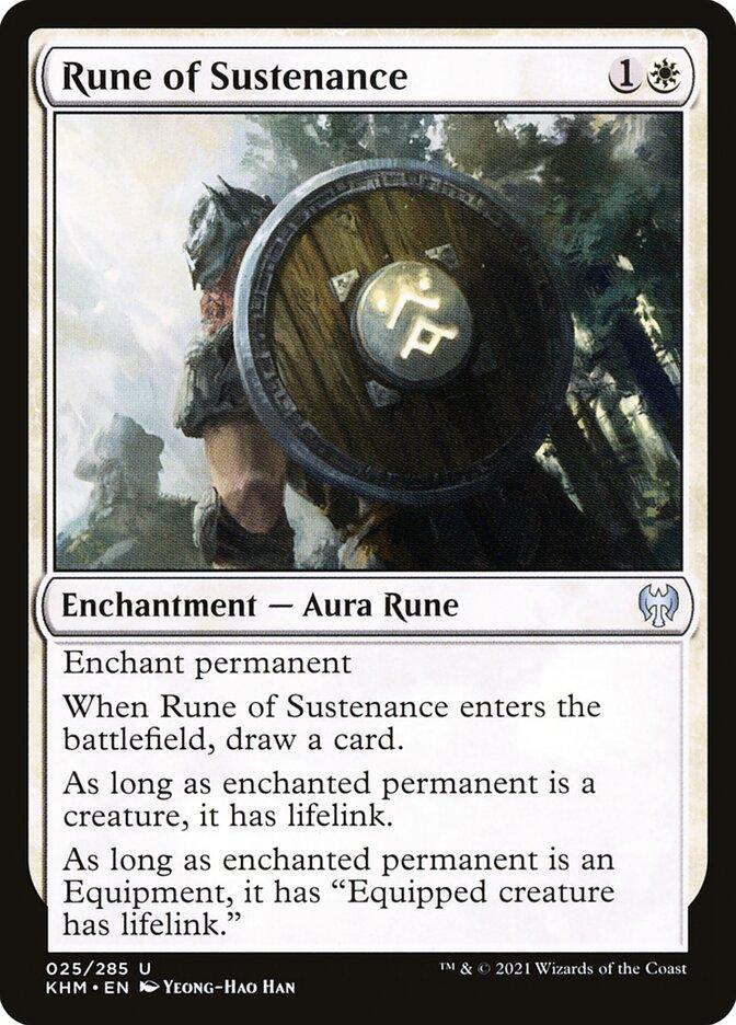 Carta /Rune of Sustenance de Magic the Gathering