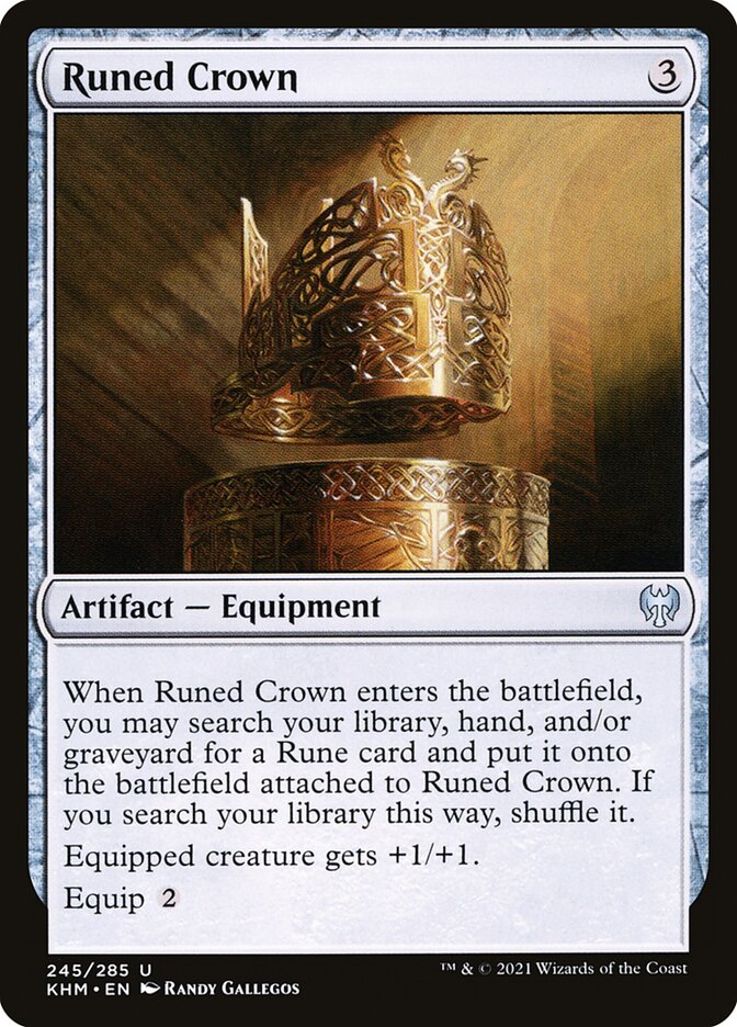 Carta /Runed Crown de Magic the Gathering
