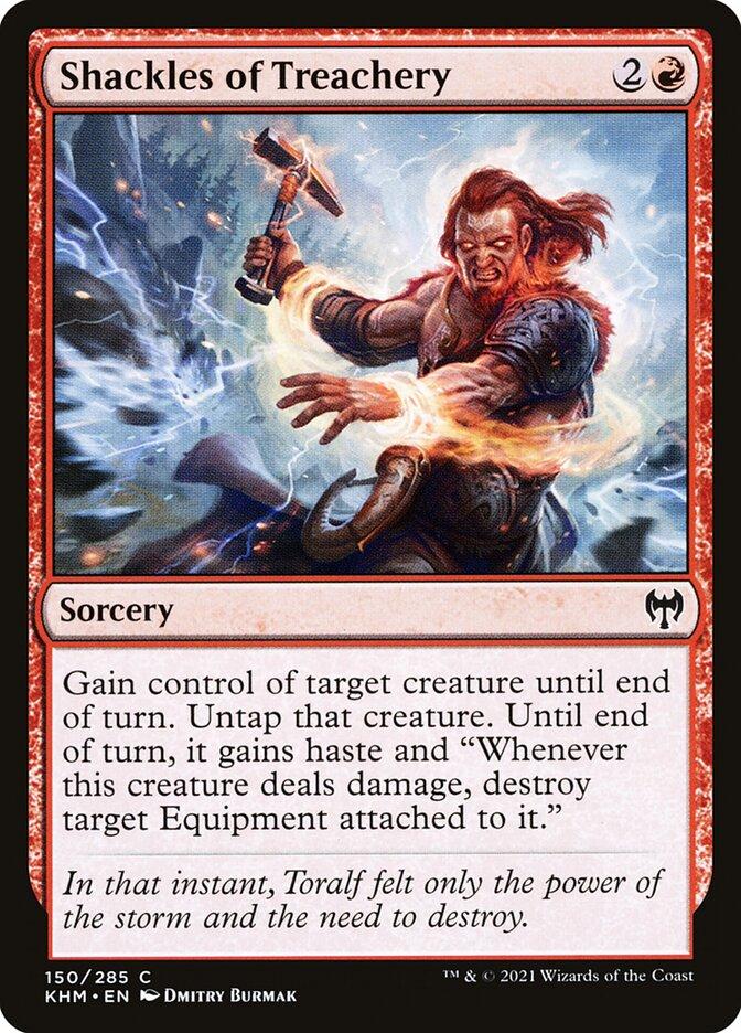 Carta /Shackles of Treachery de Magic the Gathering