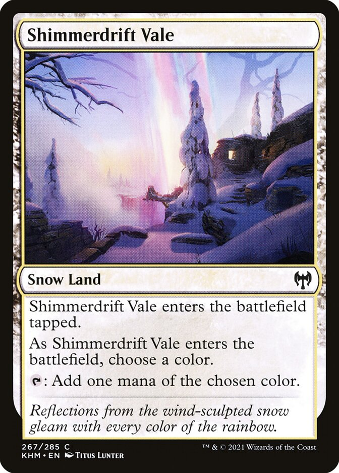 Carta /Shimmerdrift Vale de Magic the Gathering