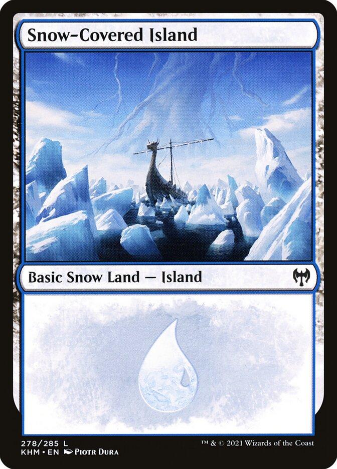 Carta /Snow-Covered Island de Magic the Gathering